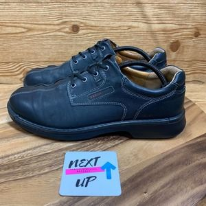 ECCO Black Leather Oxford Dress Shoes 45